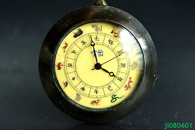 Collectible Copper The Made Hand-mechanical Used Chinese Chinese Zodiac Clock