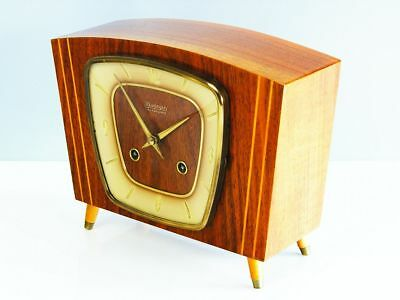 Very Rare Beautiful Later  Art Deco Kieninger  Chiming Mantel Clock  From 50´s