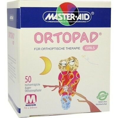 ORTOPAD for girls medium Augenokklusionspflaster 50 St 00215048