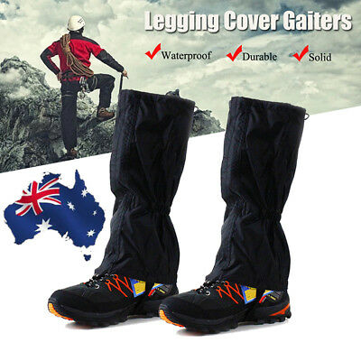 AU Outdoor Climbing Hiking Waterproof Legging Cover Boot Chaps Snake Gaiters