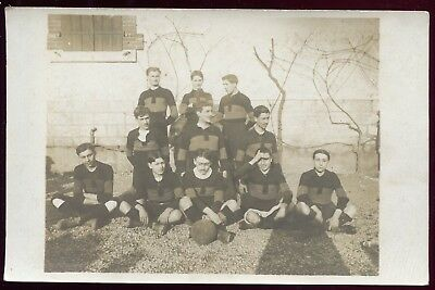 cpa 18 Bourges . Football . carte-photo