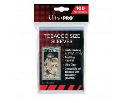 "(100) Ultra Pro Mini Tobacco Size Trading Card Sleeves 1 15/32"" x 2 11/16"" T-206"