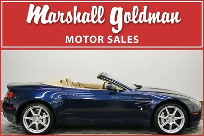 2008 Aston Martin Vantage Base Convertible 2-Door 2008 Aston Martin V8 Vantage Volante Midnight Blue Sahara Tan 21,300 miles