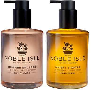 "Noble Isle Hand Wash Duo Set""WHISKY""&""RHUBARB"" 2x250ml & Free 30ml Molton Brown"