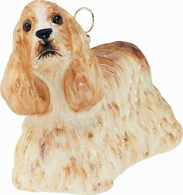 Blond Standing Cocker Spaniel Dog Polish Glass Christmas Ornament Decoration New