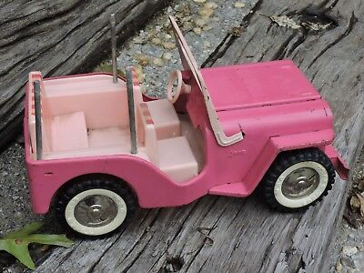 Vintage 1960's Tonka Toy Truck Pink Surrey Jeep Pressed Steel Elvis Blue Hawaii