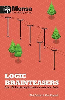 Mensa: Logic Brainteasers by Ken Russell Book The Cheap Fast Free Post