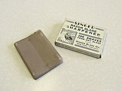 Vintage Singer Razor Hone sharpener for safety & straight razors