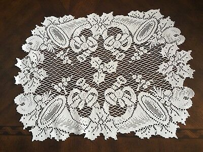 Lace Placemat Ivory Horns Floral ITDH474