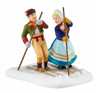 Department 56 Alpine Village Love on the Slopes Skiing Couple Figurine 4050905