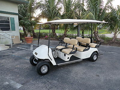 EZ GO EZGO Shuttle 6 Electric 6 Passenger Golf Cart Limo New Battires