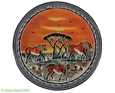 Stone Plate Kisii Lions Square Kenya Africa 12 Inch