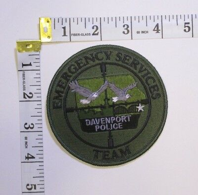 Emergency Services Davenport New Hampshire Police Shoulder Patch