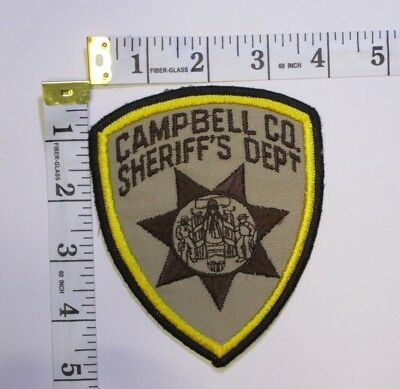Campbell Wyoming Sheriff Department Shoulder Patch