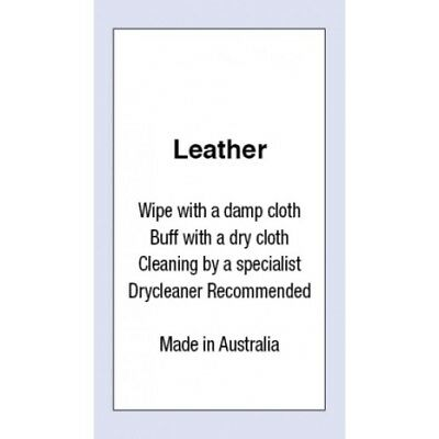 Leather Made In Australia Sewing Washing Care Labels 5 Pack Sizes