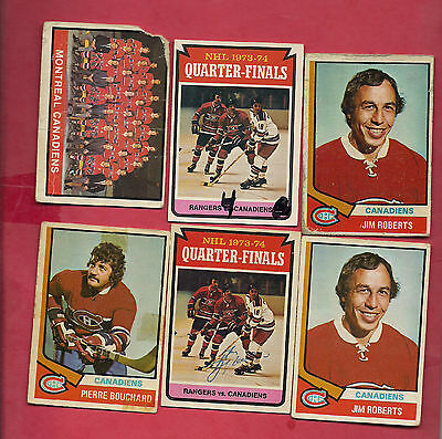 1974-75 Opc  Montreal Canadiens Card Lot