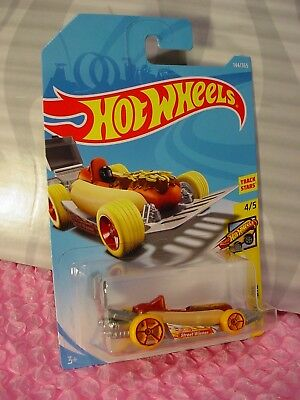 STREET WIENER #144✰Hot Dog/bun✰FAST FOODIE✰2018 i Hot Wheels WW case F