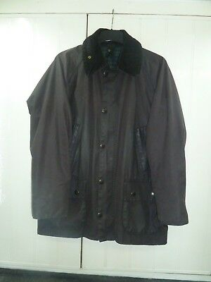 "Men's Brown Bedale Waxed Cotton Jacket by Barbour Size 36"" 91cm"