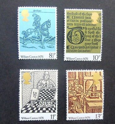 GREAT BRITAIN SG1014/1017 500th ANNIVERSARY OF BRITISH PRINTING 1976 MNH