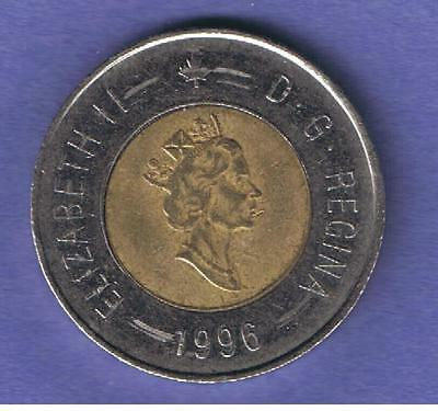 1996 Canada Canadian Two Dollar Coin Toonie Circulated~Nice
