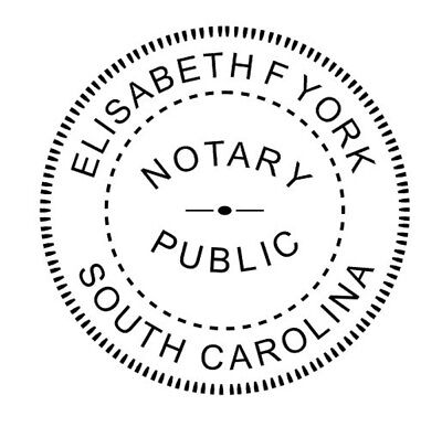 State of South Carolina | Custom Round Self-Inkin Notary Public Stamp Ideal 400R