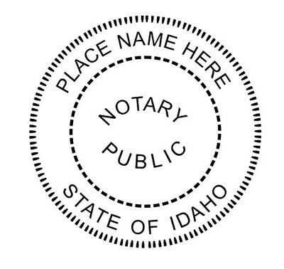 State of Idaho | Custom Round Self-Inkin Notary Public Stamp Ideal 400R