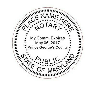 State of Maryland | Custom Round Self-Inkin Notary Public Stamp Ideal 400R