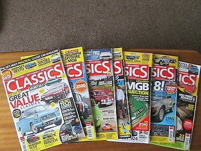 Collection 7 Classics Monthly Car Magazines Buying Restoring Repairing 2012 2013