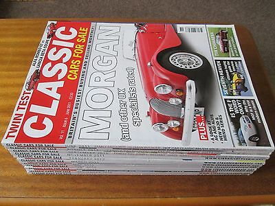 Collection of 11 Classic Cars For Sale Magazines Lot 2011 2012