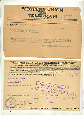 Oddball Assortment Mostly Telegrams From Different Telegraph Companies
