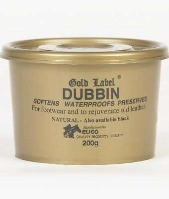 Gold Label Dubbin Softens Leather Waterproof Protection Preserves Tack Boots