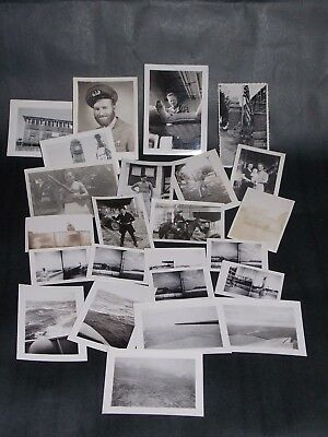 Lot of 24 Vintage WWII 1943 1945 Photographs Soldiers Aerial Captions Dated
