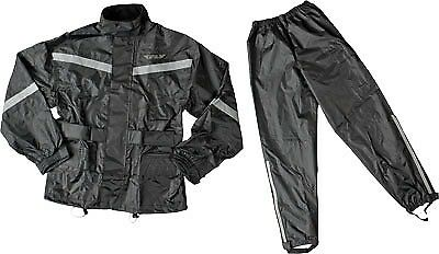 Fly Racing 2 Piece with Rainsuit Relective Accents Black