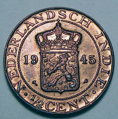 Netherlands East Indies 1/2 Cent 1945 P K1.2
