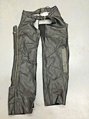 NEW NWT HARLEY DAVIDSON WOMENS Leather Chaps Deluxe 98097-06VW SIZE M