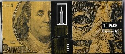 Empire Rolling King Size Slim Wallet Of Ten $100 Bill Rolling Papers With Tips