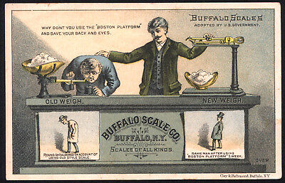 Buffalo Scale Prevents Stooping on Trade Card