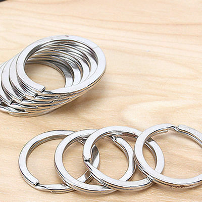 "Stainless Steel 19-30mm 1"" Key Rings Key Chains 1 inch Split Rings 10-100 pcs"