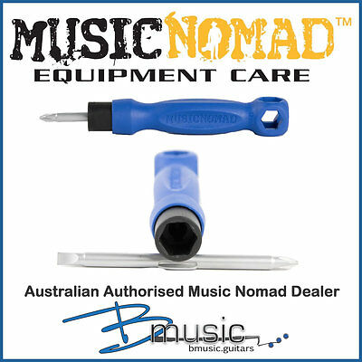 Music Nomad The Octopus 8 'n 1 Tech Tool - Phillips, Flathead & 5 wrench sizes