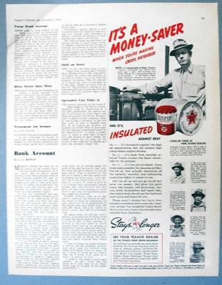 Original 1940 Texaco Ad Photo Endorsed by J. F. Hambright of Roby Texas