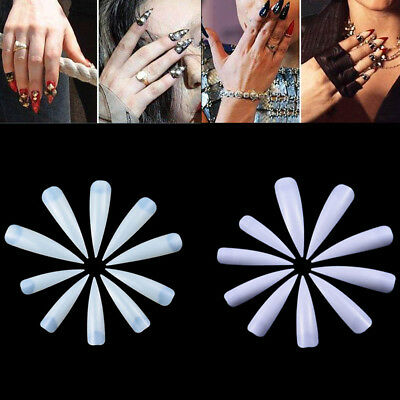 Artificial Long Sharp Nail Art Tips Stiletto Pointy Fake False Full Cover 500pcs