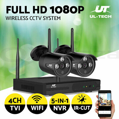 UL-tech CCTV Wireless Security Camera System Outdoor 4CH WIFI 1080P Day Night