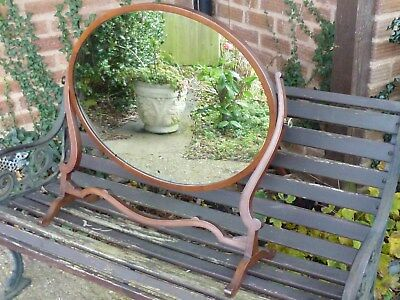 Art Deco / Nouveau Swing Toilet Mirror /  Dressing Table - Antique Mahogany