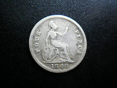 Victoria 1846 Groat / Fourpence (aFine)