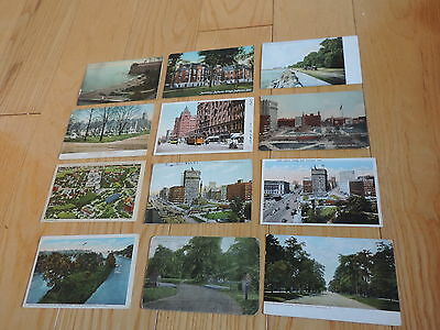 Cleveland Ohio Antique Vintage Postcard Lot Public Square & More (px17)
