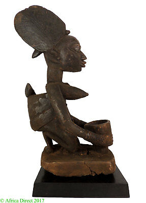 Yoruba Kneeling Bowl Bearer Nigeria African Art 25 Inch SALE WAS $950