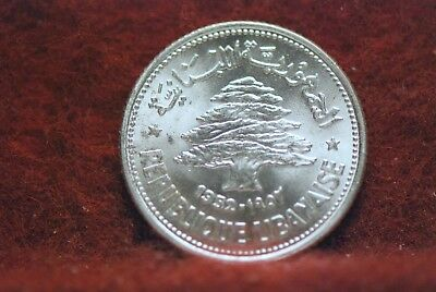 Lebanon, 1952 50 Piastres, silver, BU, Or Best Offer,                        2fs