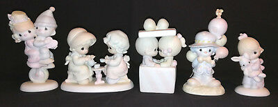 Precious Moments Lot of 5 Assorted Figurines