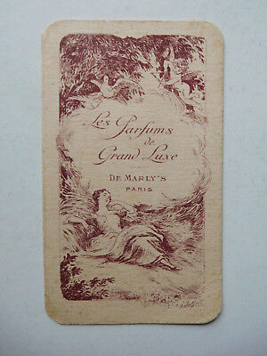 "carte ancienne ""les parfums de grand luxe "" de MARLY'S"