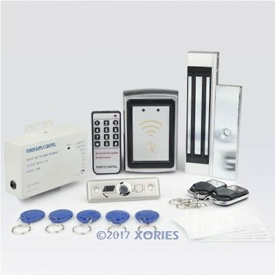 New RFID Password Door Access Control Kit +180kg Magnetic Lock+ 2Remote Controls